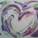 Herzwegfahnderin Herzaquarell Bild