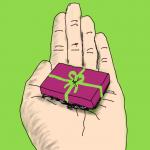 Herzwegfahnderin Geschenk auf Hand Bild